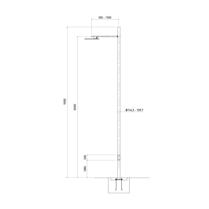 Dimensiones columna de acero SVT